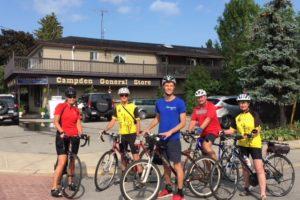 MPP Sam Oosterhoff rides with Bike Niagara